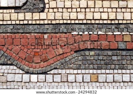 Stone mosaic pattern - stock photo