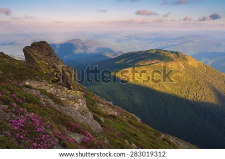 Stone Mountain. Evening landscape with beautiful light - stock photo