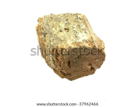 Stone part isolated on a white background