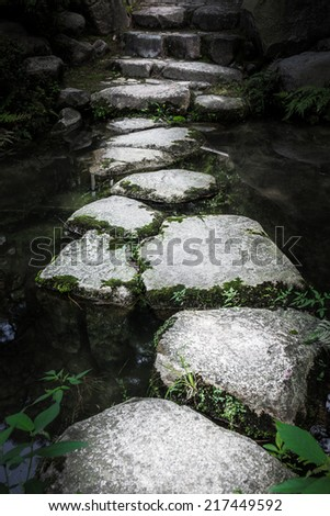 Stone path to enlightenment  - stock photo