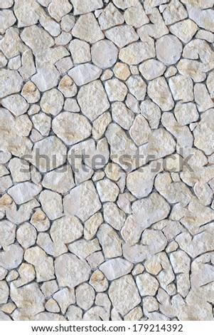 Stone pavement seamless texture - stock photo