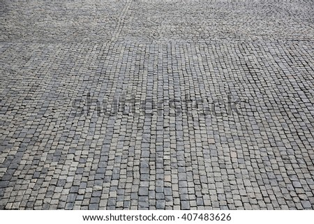 Stone pavement texture, Moscow, Russia, Red Square - stock photo