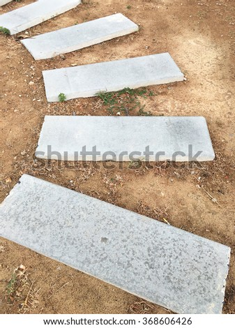Stone paver walkway.  - stock photo