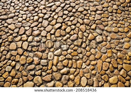 Stone paving texture. - stock photo