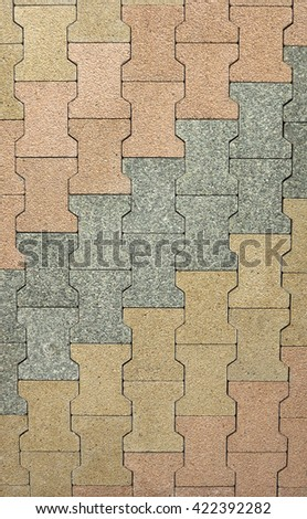 Stone paving texture. Abstract pavement background.