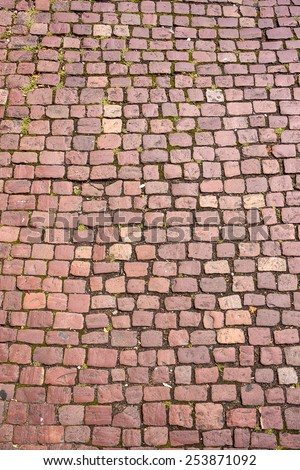 Stone paving texture. Abstract structured background. - stock photo