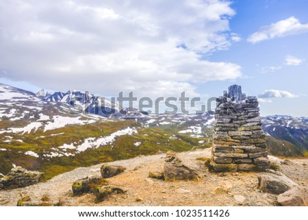 Stone Pile in the Norwegian Mountains