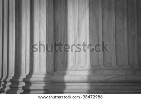 Stone Pillars - stock photo