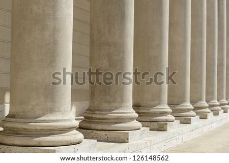 Stone Pillars in a Row - stock photo