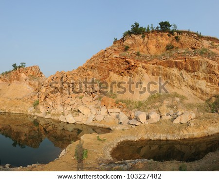 stone pit - stock photo