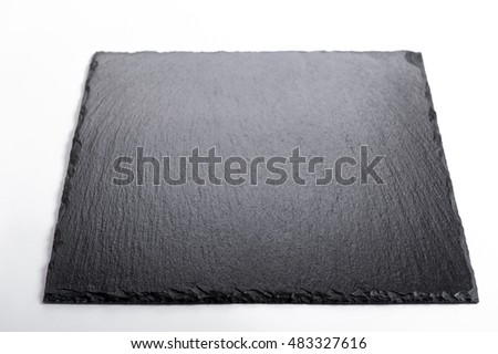 stone plate on white background