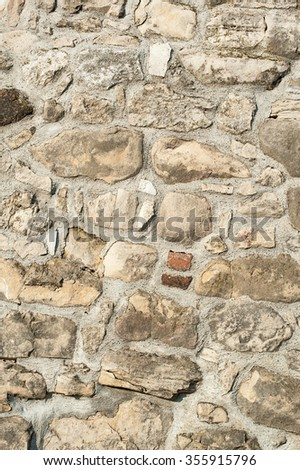 Stone Rock Wall. Texture of old rock wall for background