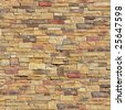 Stone seamless wall. - stock photo