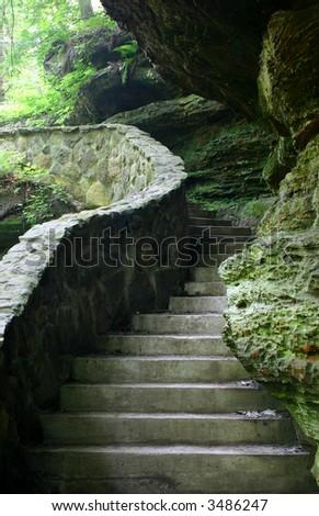 Stone stairway. More earthy scenics in my portfolio. - stock photo