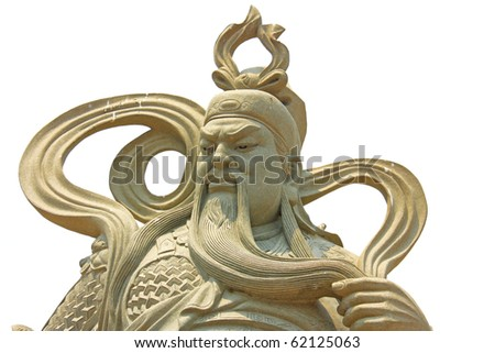 Stone statues in buddhism temple - stock photo