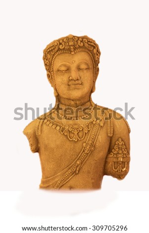Stone statues of ancient Khmer art, Isolate background.
