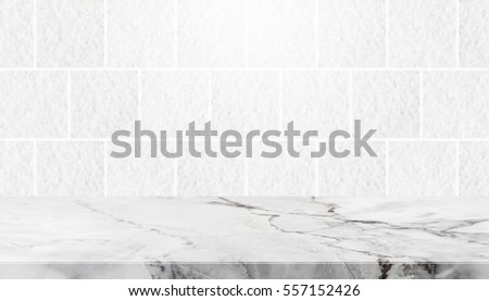 Stone Table Top And Background Of Grey Granite Stone Tile Wall   Can Used  For Display