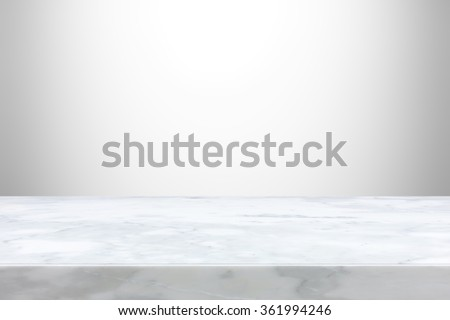 Stone table top on gray  gradient abstract background  - can be used for display or montage your products - stock photo
