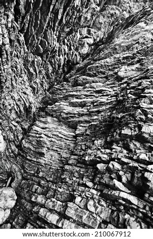 stone texture rock band layers - stock photo