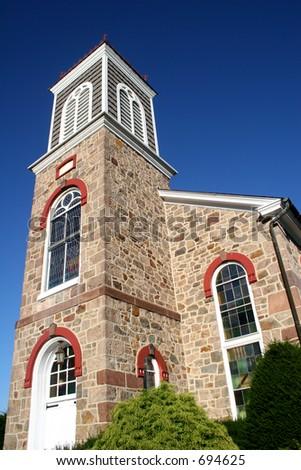 Stone 19th Century Church - stock photo