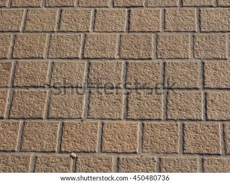 Stone tile floor paving fragment - Texture of old rock - stock photo