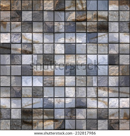 Stone tiles - seamless background - quartz surface - stone flooring - stone wall - stone paneling - paneling pattern - stone texture - stock photo