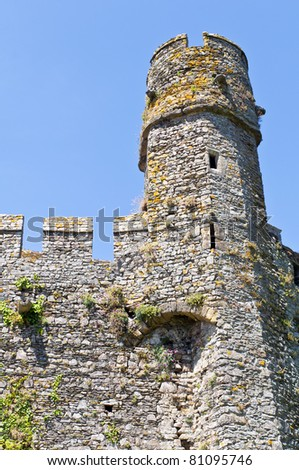 stone tower castle in normandy france