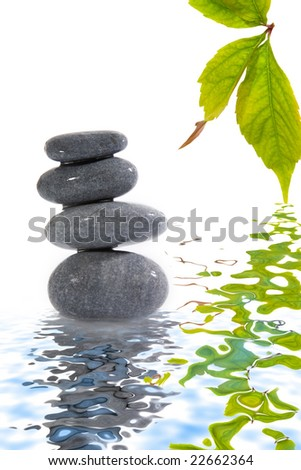stone tower on white background