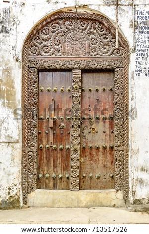 STONE TOWN ZANZIBAR - August 14 Zanzibar Door at Stone Town in Zanzibar & Zanzibar Door Stock Images Royalty-Free Images u0026 Vectors ... pezcame.com