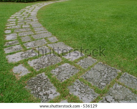 Stone walkway in the park
