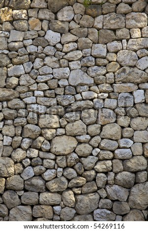 Stone wall 02 - stock photo