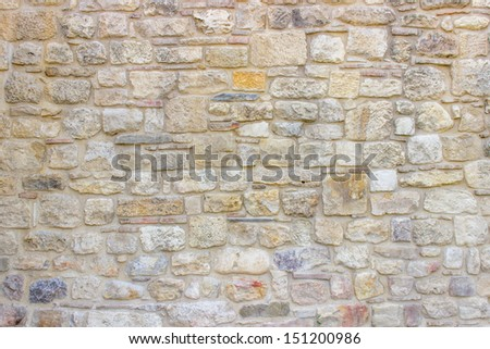 Stone wall background, Fortification wall, Kalemegdan fortress in Belgrade - stock photo