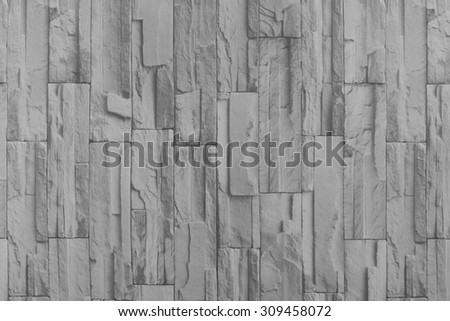 Stone wall background in black and white tone.