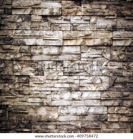 stone wall grunge background - stock photo