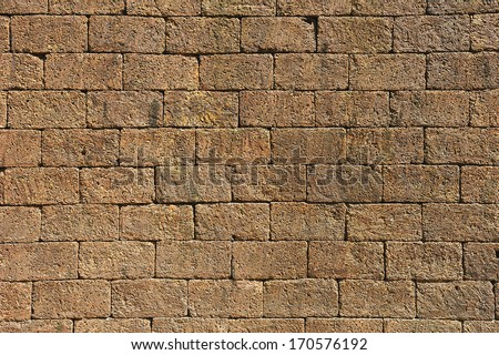 Stone wall texture. - stock photo