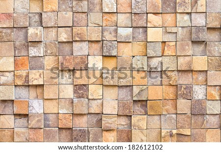 Stone wall texture and background - stock photo