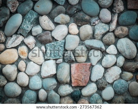 stone wall texture background in retro style - stock photo