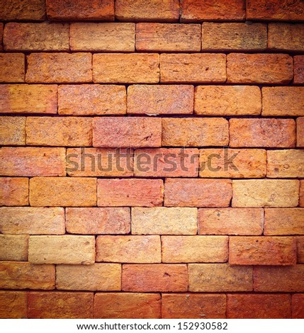 Stone wall texture process in vintage style - stock photo