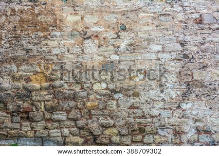 stone wall texture , texture of stone wall for background , old stone texture  - stock photo