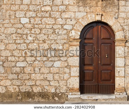 front window texture stone wall door wall old house stock photo 282402908 shutterstock