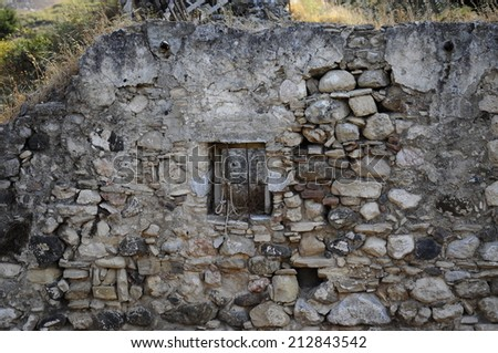 Stone wall with a window