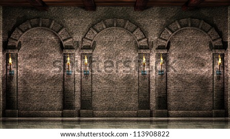 Castle walls stock images royalty free images vectors for Interior wall arches