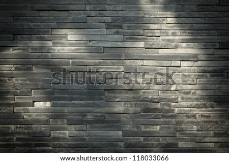 Stone walls in style. with shadow - stock photo