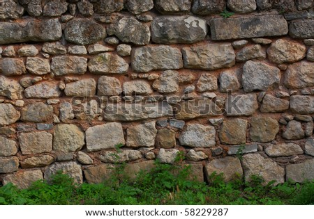 Stone walls in the city-fortress Chufut-Calais, Crimea, Ukraine