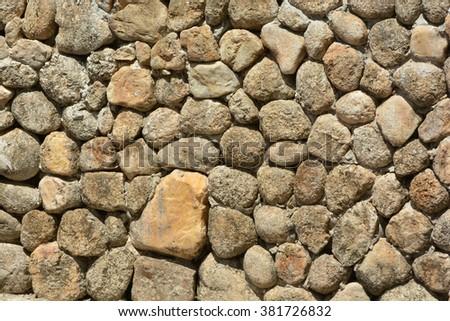 Stone walls, stone floors, uneven skin texture background - stock photo