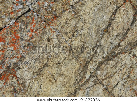 Stone with cracks - stock photo
