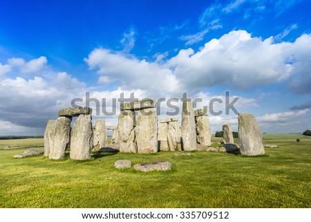 Stonehenge Historic Site in United Kingdom - stock photo