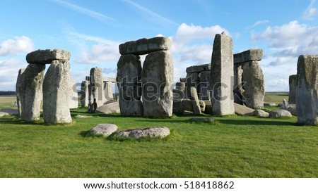 "the building stages of the stonehenge monolith Most extraordinary of all were the standing stones or ""monoliths"" discovered on a   bc, contemporary with the later stages of the construction of stonehenge."