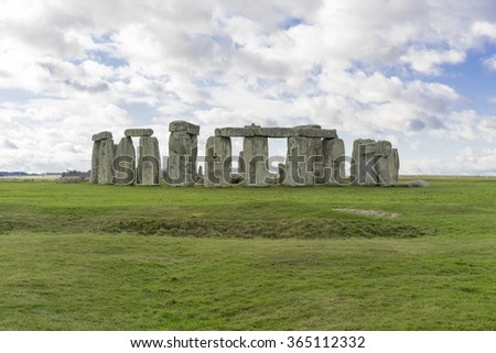 Stonehenge, on a cloudy winter day, England, United Kingdom