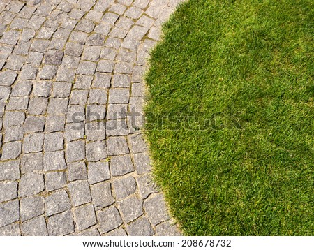 Stones and grass - stock photo